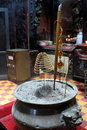 Free Joss Stick In An Urn Stock Photography - 17262672