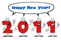 Free 2011 New Year Characters Royalty Free Stock Photography - 17264417