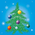 Free Decorated Christmas Tree. Royalty Free Stock Photography - 17266707