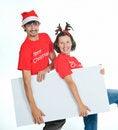 Free Isolated Happy Christmas Couple Stock Photo - 17266780