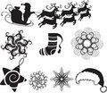 Free Set Of Christmas Icons Royalty Free Stock Image - 17268816