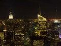 Free Manhattan Skyline At Night Stock Photo - 17268940