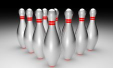 Free 3d Bowling On Black Background Stock Photo - 17260080