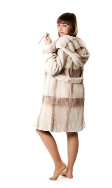 Free A Beautiful Young Girl In A Fur Coat Stock Photography - 17260092