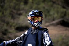 Motocross Rider Stock Photography