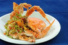 Free Stir-Fried Crab Royalty Free Stock Photography - 17260187