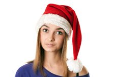 Free Beautiful Girl In Red Santa Hat Royalty Free Stock Photo - 17260195