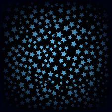 Free Abstract Background With Blue Stars Royalty Free Stock Photography - 17260297