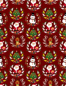 Free Seamless Christmas Pattern Stock Photo - 17260390
