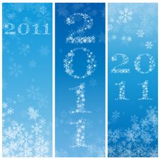 Free 2011 Blue Banners Stock Image - 17260521