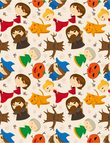 Free Seamless Monster Pattern Royalty Free Stock Photography - 17260667