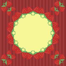 Free Decor Frame With Strawberry Stock Photos - 17260693