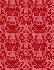 Free Seamless Rose Pattern Royalty Free Stock Photography - 17261147
