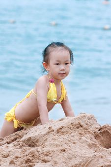 Free Child By The Seaside Stock Image - 17261191