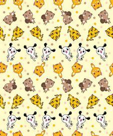 Free Seamless Animal Pattern Royalty Free Stock Photo - 17261465