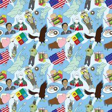 Free Seamless American Pattern Stock Photo - 17261470