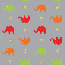 Free Seamless Background With Elephants. Royalty Free Stock Image - 17261476