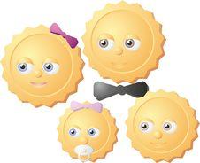 Free Happy Suny Familly Stock Photography - 17261542
