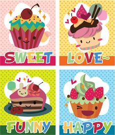 Free Cake Card Royalty Free Stock Photos - 17261628