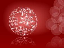 Free Shiny Snowflakes Ball Stock Image - 17262611