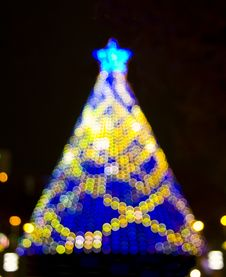 Free Christmas Tree Bokeh Lights Stock Image - 17262841