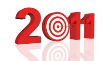Free Year 2011 Target Stock Images - 17262914
