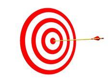 Free Arrow On Target Royalty Free Stock Photos - 17262918