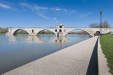 Free Avignon Bridge And Rhone River, France Royalty Free Stock Photos - 17262988