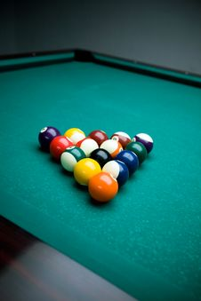 Billiard Table And Balls. Royalty Free Stock Photography