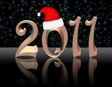 Free 2011 Gold Background Black Stock Photo - 17263180