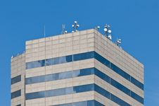 Free Antennas On A Rooftop Of A Modern Building. Stock Image - 17263341