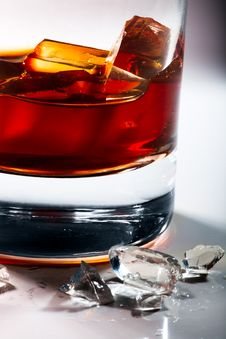 Free Glass Of Whiskey And Ice Stock Photo - 17263480