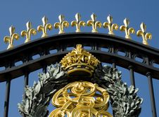 Royal Palace Gates Royalty Free Stock Photo