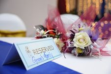 Free Reserved Table Royalty Free Stock Image - 17263956
