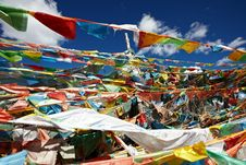 Free Ibetan Prayer Flags Royalty Free Stock Image - 17264616