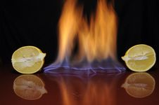Free Fire Lemon Royalty Free Stock Images - 17265219