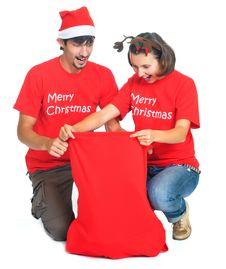Free Isolated Happy Christmas Couple Royalty Free Stock Photo - 17266785