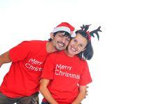 Free Isolated Christmas Couple Stock Photos - 17266793