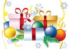 Free Decorative Box With Snowflakes Stock Photos - 17267003