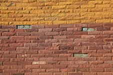 Colorful Modern Brick Wall Texture Stock Image