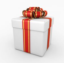 Gift Box - 3d Render Royalty Free Stock Photography