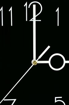 The Arrows And The Fragment Clock Dial Stock Image