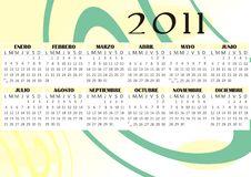 Free Calendar 2011 Vector Royalty Free Stock Image - 17268526