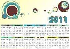 Free Calendar 2011 Vector Royalty Free Stock Photography - 17268527