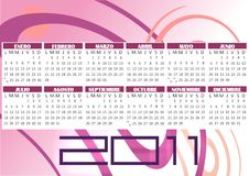 Free Calendar 2011 Vector Stock Images - 17268564