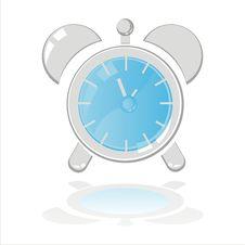 Free Clock Isolated On White Royalty Free Stock Photo - 17268635