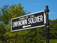 Unknown Soldier Tomb Sign Stock Image