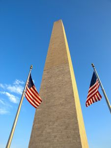 Free USA Flags In The Washington Monument Stock Images - 17269364