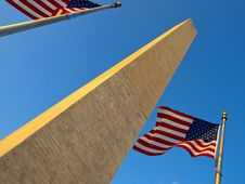 Free USA Flags In The Washington Monument Royalty Free Stock Photos - 17269508