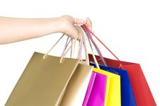 Free Shopping Bags In Hand Stock Images - 17269844